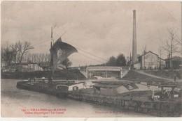 CPA 51. Chalons Sur Marne. Usine électrique. Le Canal - Châlons-sur-Marne