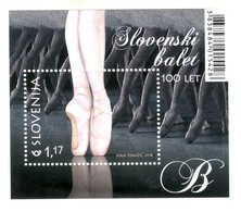 3333 Slowenien Slovenia 2018 Mi.No. 1348 ** MNH Block 100 Years Of Slovene Ballet Shoes Dance Legs - Tanz