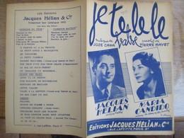 JE. TE. LE. LE. (JE TE L'AVAIS BIEN DIT) JACQUES HELIAN MARIA CANDIDO MUSIQUE DE JOSE CANA PAROLES DE PIERRE HAYEZ 1953 - Spartiti