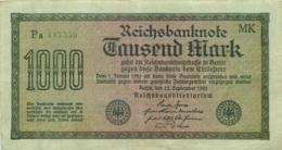 BILLET ALLEMANGNE REICHSBANKNOTE 1000 MARK ANNEE 1922 - [ 3] 1918-1933 : Repubblica  Di Weimar