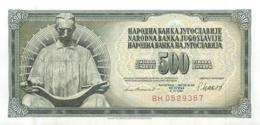 BILLET YOUGOSLAVIE 500 DINARA - Jugoslawien