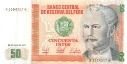 BILLET PEROU BANCO CENTRAL DE RESERVA DEL PERU CINCUENTA 50  INTIS - Pérou