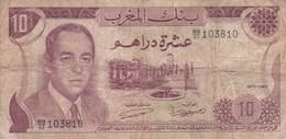 Maroc - Billet De 10 Dirhams - 1970 - Hassan II - Marruecos