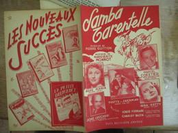 LA SAMBA TARENTELLE  PAROLES DE PIERRE GUITTON MUSIQUE DE MARGUERITE MONNOT 1950 - Partitions Musicales Anciennes
