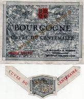 Etiquette De Vin Bourgogne Cuvée Du Centenaire 1955. - Bourgogne