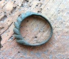 Ancient Vikings Bronze Ring 10-13 Centuries - Archéologie