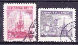 Tchécoslovaquie 1946 Mi 502-3 (Yv 429-30), Obliteré - Used Stamps