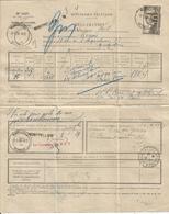 N° 389 SEUL LETTRE RECLAMATION CONCERNANT UN MANDAT MONTPELLIER 1939 AVEC ENVELOPPE CHAMBRE DEPUTES  TRES RARE - Postmark Collection (Covers)