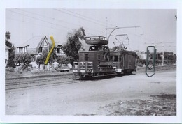 DE HAAN :  Voiture échelle       : TRAM : **  Foto Van Oude Cliché 1962     (15 X 10 Cm) - Treinen