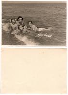 1960 Original 12x9cm Old Studio Photo Vintage Child Children Girl Pants Woman Swimsuit Pin Up Beach Russia USSR (6500 - Pin-Ups