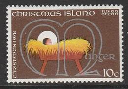 Christmas Island 1978 Christmas 10 C Multicoloured SW 107 ** MNH - Christmas Island