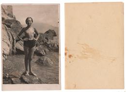 1936 Original 12x8 Old Photo Photography Teenager Girl Half Naked NU Pin Up Child Pants Beach Russia USSR (6570) - Pin-Ups