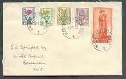 Lettre Affr. SENAT Obl. Sc BRUXELLES 1 Du 16-1-1951 Vers Beckenham   - 14210 - Cartas