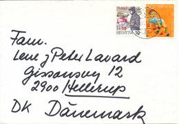 Switzerland Cover Sent To Denmark 25-12-1987 1 Of The Stamps Overprinted (Unwetter In Der Schweiz) (the Flap On The Back - Switzerland
