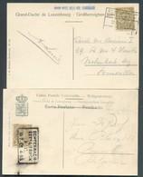Lot De 2 CV Avec Obl. Ambulants ECHTERNACH-ETTELBRUCK Vers Bruxelles. - 14215 - 1895 Adolphe Right-hand Side