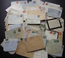 Plus De 200 Lettres Entre 1877 Et 1920, Voir Photos De Détail ! - Postmark Collection (Covers)