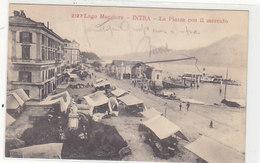 Intra - Piazza Con Mercato - 1904       (A-88-100622) - Verbania