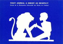 Defense Animaux  Ligue Des Droits De L' Animal Format 10/15 Lion Et Homme - Animaux & Faune