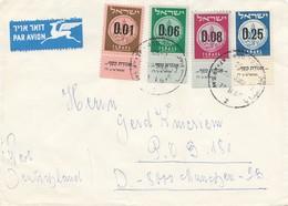 Palestine 1957: Air Mail Letter To München - Palästina