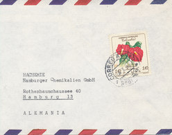 Colombia Air Mail Cover Sent To Germany 14-10-1960 Single Franked (the Cover Is Cut In The Left Side) - Colombia