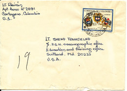 Colombia Cover Sent To USA 15-12-1966 Singla Franked (see The Bottom Of The Cover) - Colombia