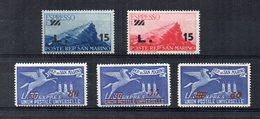San Marino - 1947/1948 - Espressi Del 1945/1946  Sovrastampati - 5 Valori - Nuovi ** - (FDC15953) - Saint-Marin