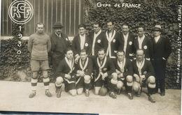 Carte Photo RCF 1930 Coupe De France Racing  Photo A. Bienvenu . Dos Non CP . Foot Football - Voetbal