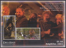 Neuseeland New Zealand 2002 Kultur Culture Film Kino Cinema Herr Der Ringe Literature Tolkien AMPHILEX, Bl. 140 ** - Neuseeland