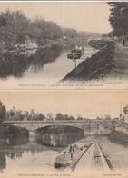 NEUILLY Sur SEINE - 2 CPA : Le Pont De Neuilly - Bords De Seine ( Péniche ) - Neuilly Sur Seine