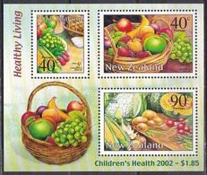 Neuseeland New Zealand 2002 Gesundheit Health Kinder Children Ernährung Obst Fruits Gemüse Vegetables, Bl. 139 ** - Neuseeland