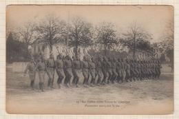 9AL1586 Nos Fidèles Alliés RUSSES En Campagne FANTASSINS MARQUANT LE PAS 2 SCANS - War 1914-18