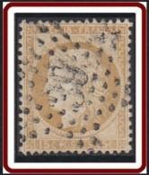 France 1863-1876 - Oblitération De Paris - Etoile 39 Rue Des Ecluses-St-Martin Sur N° 55 (YT) N° 55 (AM). - Marcophilie (Timbres Détachés)