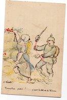 OEUVRES DE GUERRE SEINE & MARNE * LOTERIE GROS LOTS * ILLUSTRATEUR A. WILLETTE * CASQUE A POINTE * - Guerre 1914-18