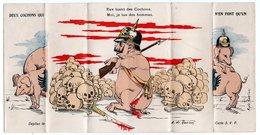CARTE A SYSTEME * COCHONS * CASQUE A POINTE * ILLUSTRATEUR A. DE RANIERI * TETE DE MORT - Oorlog 1914-18