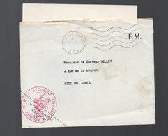 Sidi Bel Abbes (Algérie) Enveloppe Franchise Militaire  1962  Avec Cachet LEGION ETRANGERE 1e Régiment  (PPP18870 ) - Poststempel (Briefe)