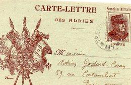 """CL  -"""" Des Alliés""""-- - Joffre-"""" Vive Les Alliés""""-- - Guerre 1914-18"""
