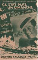 """Partition """"ça C'est Passé Un Dimanche"""" MAURICE CHEVALIER - Muziek & Instrumenten"""