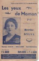 """Partition """"les Yeux De Maman"""" BERTHE SYLVA - Liederbücher"""