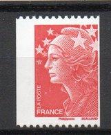 - FRANCE Variété N° 4240 - (TVP) Rouge Roulette Marianne De Beaujard 2008 - 2 BANDES DE PHOSPHORE A GAUCHE - - Plaatfouten En Curiosa