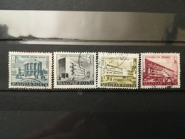 FRANCOBOLLI STAMPS UNGHERIA MAGYAR POSTA 1950 - 1953 USED  PLAN FIVE PIANO QUINQUENNALE HUNGARY - Ungheria