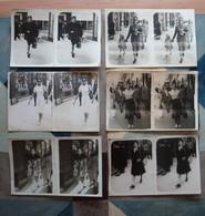 Lot 6 Photos (doublons) D'une Femme Sur La Canebière Marseille - 1946-47 - Personnes Anonymes