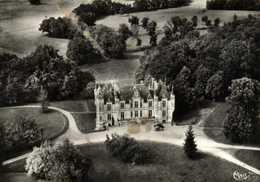 CPSM Grand Format ST LAURENT Des HOMMES (Dordogne) Le Chateau De Fournil Vue Aérienne RV Combier - Altri Comuni