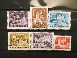 FRANCOBOLLI STAMPS UNGHERIA MAGYAR POSTA 1960 - 1961 USED SERIE CASTELLI CASTLE HUNGARY - Ungheria