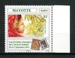 MAYOTTE 2011  N° 258 ** Neuf MNH Superbe Fleurs D'Ylang Femme Flowers Salon Océan Indien - Mayotte (1892-2011)
