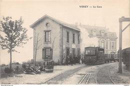 51-VERZY-LA GARE-ARRIVEE DU TRAIN-N°R2044-B/0325 - Verzy