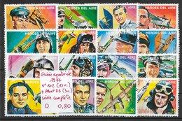 Avion Guynemer Richthofen RickenBacker - Guinée équatoriale N°102 (13v) & PA N°86 (3v) 1977 O - Avions