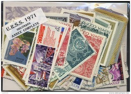 URSS SU 1971, ANNEE COMPLETE, COMPLETE YEAR SET, STAMPS + BLOCKS, TIMBRES ET BLOCS, OBLITERES / USED CTO - 1923-1991 USSR
