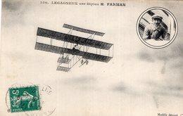 3213 Cpa Aviation - Legagneux Sur Biplan H. Farman - Piloten