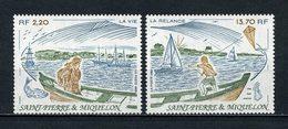 SPM MIQUELON 1989 N° 508/509 ** Neufs MNH Superbes C 8,60 € Bateaux Sailboats Pêche Fishing île Marins Cerf Volant - St.Pierre Et Miquelon