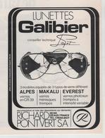 Publicité Lunettes Galibier Payot Pontvert Izeaux - Werbung